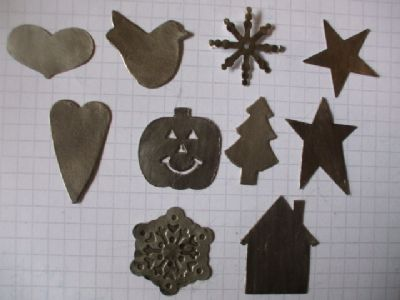 25mm Pewter Stickers x 6 for Cardmaking and Scrapbooking.